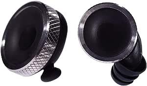 Knops Knurled Black - Protezione per le orecchie con 4 diverse regolazioni di filtro