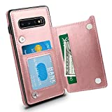 Oihxse Case Compatible with Samsung Galaxy Note 8 Leather Wallet Case Cover with [Credit Card Slots] [Money Cash Pocket] Flip Magnetic Buckle Closure Fashion Slim Shockproof Shell Skin-Rose Pink