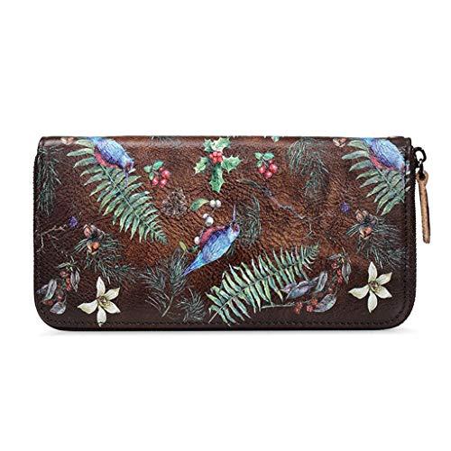 Dream Tissa Damen lange Abschnitt Wallet Card Package Vintage geprägtes Leder Clutch (Color : B, Size : 19 * 2.5 * 10)