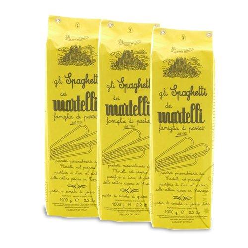 Martelli Spaghetti Nudeln, 3 x 1.000g - Sparpaket Spaghetti