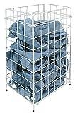 Racon Abfallkorb Papierkorb Sammelkorb Metall weiß - ca. 30 Liter Volumen - für Boden o. Wand