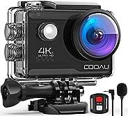 COOAU Action Cam HD 4K 20MP WiFi Con Microfono Esterno Fotocamera Sott'acqua 40M con Telecomando EIS Stabi
