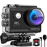 COOAU 4K 20MP Wi-Fi Action Camera External Microphone Remote Control EIS Stabilization Underwater