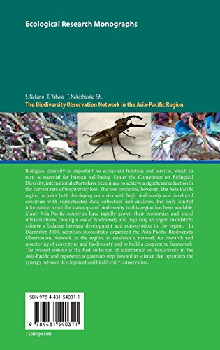 The Biodiversity Observation Network in the Asia-Pacific Region: Toward Further Development of Monitoring (Ecological Research Monographs)