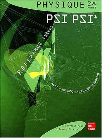 Physique 2nde année PSI PSI*