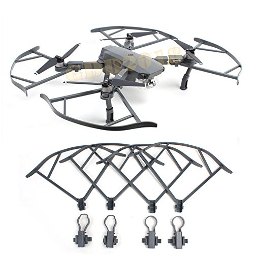 GDD2018 Prop Guards Propeller Protektor Bumpers / Landing Gear Für DJI Mavic Pro Zubehör (Black Prop Guards)