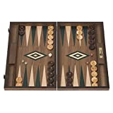 uebergames Backgammon Noce–Verde–in pregiato legno di noce