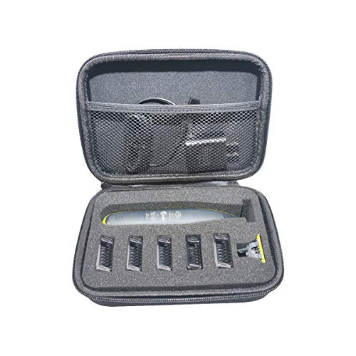 SANVSEN para Philips OneBlade QP2530/30 QP2530/20 QP2520/30 Hybrid Recortador Shaver Duro Viaje Estuche Bolso Funda by