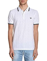 Fred Perry Homme FPM157021100 Blanc Coton Polo