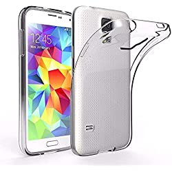 iVoler Coque Compatible avec Samsung Galaxy S5 Mini, [Ultra Transparente Silicone en Gel TPU Souple] Housse Etui Coque de Protection