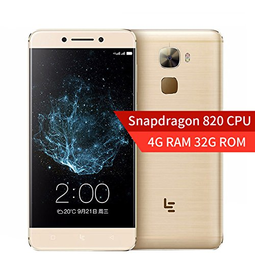 LeTV LeEco Le Pro 3 Elite X722 - 4G Android Smartphone kostenlos (Android 6.0 4 GB RAM 32 GB ROM, Quad Core Android 6.0 Snapdragon 820 2,15 GHz, 5,5 FHD Auflösung 1080 x 1920 403PPI Dual-Kamera 16MP + 8MP 4070Mah Akku Handy) -Gold