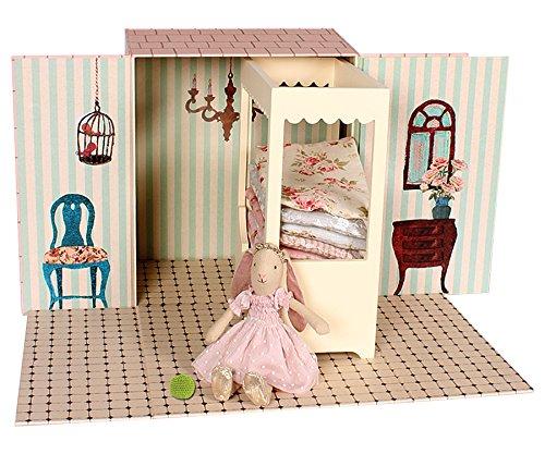 Maileg - Mini Hase Prinzessin & Amp; Das Erbse - Handmade Bett-decken, Bett & Amp; Schlafzimmer Einstellung