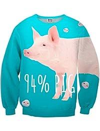 Mr. Gugu & Miss Go ® ⋅ Pig Suéter ⋅ 3D ⋅ Unisex ⋅ Fullprint ⋅ Impreso ⋅ Multicolor ⋅ Primavera ⋅ Verano ⋅ 2017 ⋅