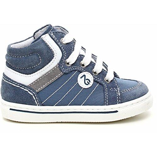 Nero Giardini Junior, Chaussures Premiers Pas Pour Bébé (Garçon) Bleu Blu - Bleu - Velour Avio, 20 EU