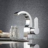 Homitex Waschtischarmatur Badarmatur Wasserhahn Spültischarmatur Wasserfall Spüle Armatur einhebelmisch Chrom