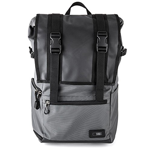 SIRUI Weekender 15 Kamerarucksack (für SLR und weitere Objektive, 15 Zoll (38,1cm) Laptop, Zubehör, wasserdichte Planenbeschichtung) grau