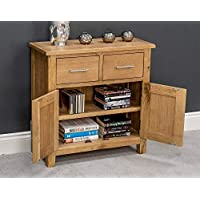 Oak Small Sideboard/2 Door 2 Drawer Mini Sideboard/Living Room Storage (Natural)