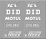 PEGATINAS SPONSORS MOTO GP R324 STICKERS AUFKLEBER DECALS AUTOCOLLANTS ADESIVI YEC OHLINS BLANCO