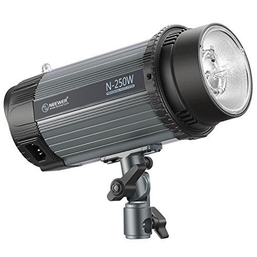 Neewer 250W 5600K Foto Studio Strobe Blitzlicht Monolight mit Modellierlampe, Aluminiumlegierung Professional Speedlite für Indoor Studio Location Modell Fotografie und Portrait Fotografie (N-250W)