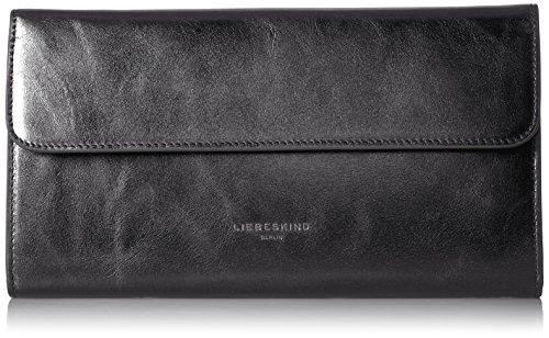 Liebeskind Berlin Damen Mariaw7 Memila Geldbörse, Silber (Rock Grey Metallic), 3x12x23 cm (Metallic Geldbörse Handtasche Tasche)