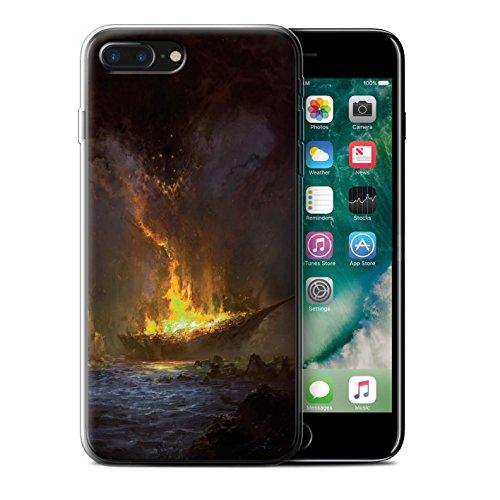 Offiziell Chris Cold Hülle / Gel TPU Case für Apple iPhone 7 Plus / Tränen der Eva Muster / Gefallene Erde Kollektion Schiffswrack