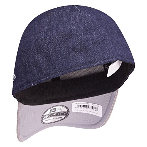 New Era 39Thirty Flexfit Cap - SUEDE VIZE navy / gris Marine
