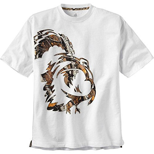 Legendäre WHITETAILS Herren Camo Print Wild Turkey Short Sleeve T-Shirt Small weiß (Türkei-jagd-t-shirt)