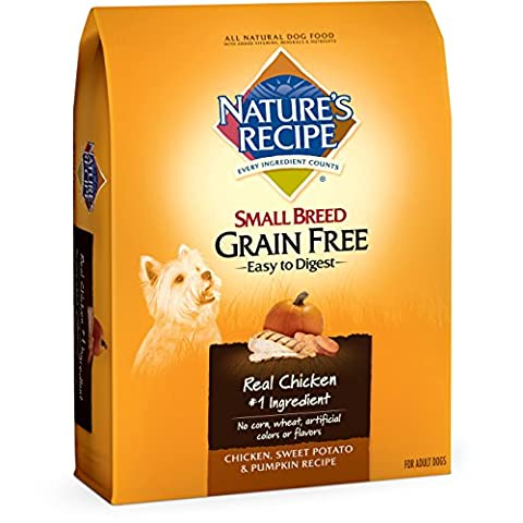 Nature's Recipe Small Breed Grain Free Easy to Digest Chicken, Sweet Potato & Pumpkin Recipe Dry Dog Food, 12-Pound by Nature's Recipe