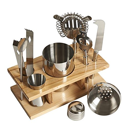 livivo-r-professional-10-piece-stainless-steel-bar-tool-set-with-wooden-display-stand-includes-cockt