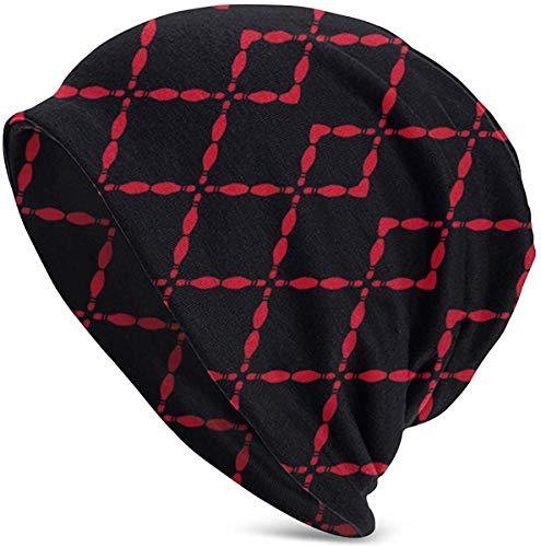 luoyanglebashang Weihnachtsmütze Black Bowling Pins Unisex Hut Paar Junge Männer und Frauen Pullover warme Mütze