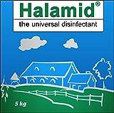Chloramin-T , Halamid, das Original - hochwirksames, langlebiges, schonendes Desinfektionsmittel für Haushalt und Haustier, gegen Schimmel, Viren, Bakterien und einzellige Parasiten, wie Giardien bei Hund und Katze, 5kg Sack von Tomodachi