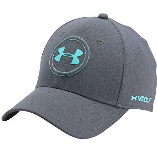 Under Armour 2017 ArmourVent Jordan Spieth Tour Cap Stretch Fit Mens Golf Hat Rhino Gray Large/XL Jordan Stretch-cap