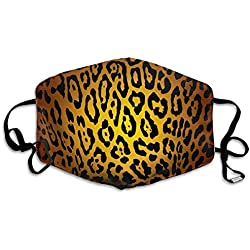 Daawqee Masques, Anti Dust Pollution Mask Leopard Print Reusable Washable Earloop Face Mouth Mask Men Women Unisex4