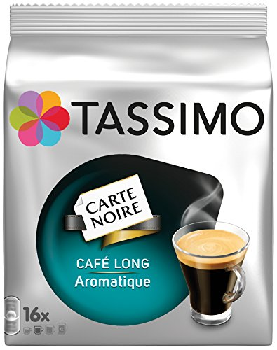 TASSIMO Carte Noire Café Long Aromatique 16 Tdisc - Lot de 5 (80 Tdisc)