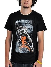 Guardians of the Galaxy Rocket Raccoon T-Shirt Marvel Frontprint lizenziert schwarz