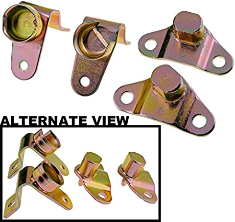 APDTY 49753 Tailgate Hinges Set Of 4 - Rear Left and Right - Includes Bed and Gate Side Hinges For 1999-2006 Chevy Silverado / 1999-2006 GMC Sierra / 2005-2006 Hummer H2 / 2006 Hummer H1 (Replaces 15074252,15074253,15078745,15078746) by APDTY - 2003 Hummer H1