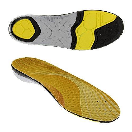 Bama Unisex Schuh-Einlagen, Für alle Sport-Wander- und Trekkingschuhe, Bama Outdoor, Größe: 43/44, Gelb/Silber/Schwarz