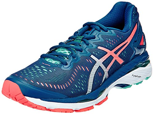 ASICS Women's Gel-Kayano 23 Poseidon, Silver and Cockatoo Running Shoes -3 UK/India (35.5 EU)(5 US)  available at amazon for Rs.8099