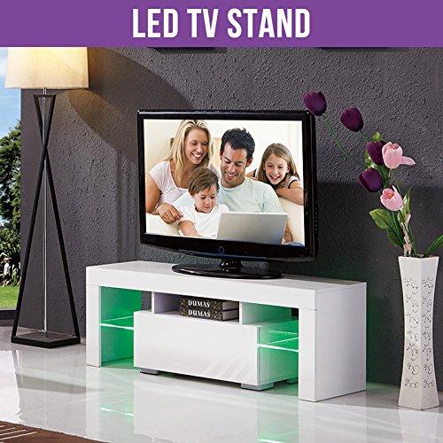 Buy UEnjoy White TV Unit 130CM TV Cabinet High Gloss TV