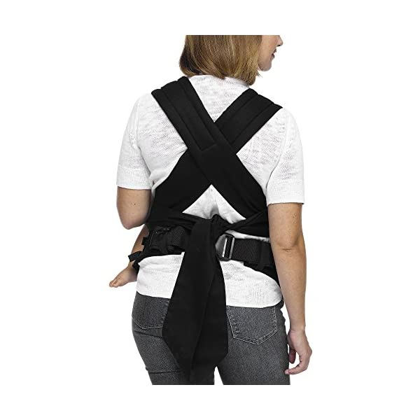 MOBY Buckle Tie Carrier for Baby to Toddler up to 45lbs, One Size Fits All, Unisex,Stripes Moby One-size-fits-all Grows with baby, from infant to toddler Offers front, hip and back carrying positions 6
