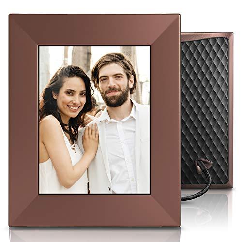 Nixplay Iris 8 Zoll Smarter Bilderrahmen, Fotos per WLAN, Cloud, E-Mail übertragen, automatisches EIN/Ausschalten durch den Bewegungssensor, Fernbedienung (W08E) - Burnished Bronze -