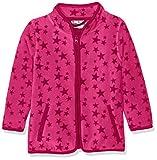 Playshoes Mädchen Jacke Fleecejacke Allover Sterne, Oeko-Tex Standard 100, Rosa (Pink 18), 116