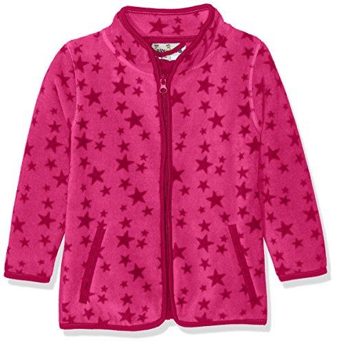 Playshoes Baby-Mädchen Fleecejacke Sterne Jacke, Rosa (Pink 18), 92 -