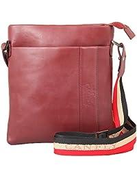 Canfly Leather Unisex Messenger Handbag BackPack School Backpack |Sling Bag |Shoulder Bag |Zip Closure Type Bag...