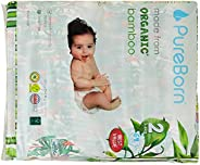PureBorn Disposable Baby Diapers, Size 2 - 3 to 6 Kg - 64 Count