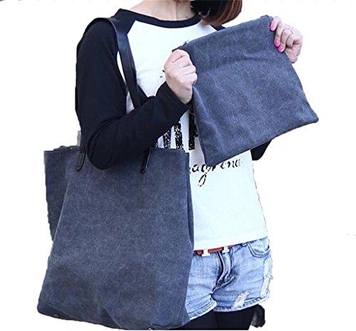 Auspicious beginning Einfache feste Farbe Lash Paket Umhängetasche mit hoher Kapazität braune Handtasche Grau