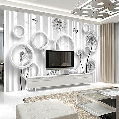 FEI&S semplice moderno 3D wallpaper di tarassaco murales seamless tessuto non-carta da parati soggiorno TV parete di sfondo pittura decorativa, Corea importate simulazione di