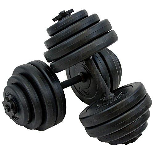 Art Sport Hantelset 30 kg – Kurzhantel-Set inkl. 2 Kurzhantelstangen, Gewichten (Kunststoff) und Sternverschlüssen | für das Krafttraining und Kraftausdauer