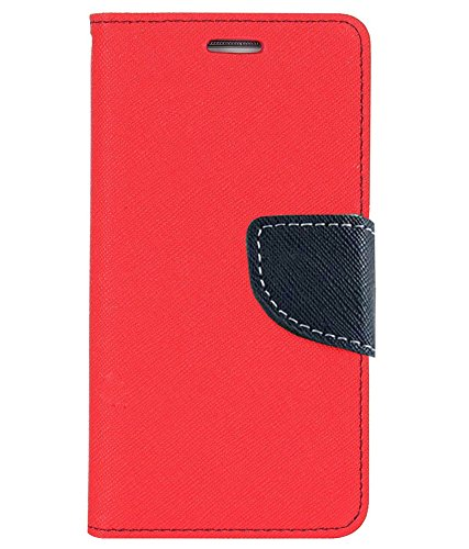 Avzax® Stylish Luxury Magnetic Lock Diary Wallet Style Flip Cover Case for Xiaomi Redmi 3S Prime (Red)