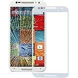 Piezas de repuesto de teléfonos móviles, Pantalla iPartsBuy frontal exterior de la lente de cristal para Motorola Moto X (2ª generación) ( Color : Blanco )